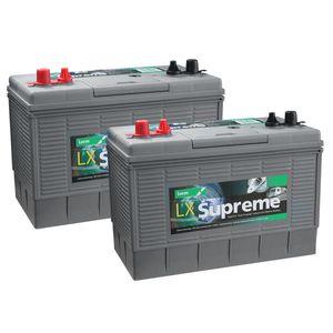 Pair of Lucas LX31MF Leisure Batteries 105Ah
