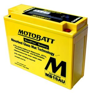 MB16AU MOTOBATT Quadflex AGM Bike Battery 12V 20.5Ah