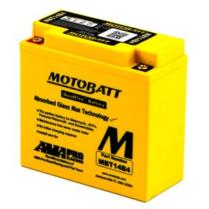 MBT14B4 MOTOBATT Quadflex AGM Bike Battery 12V 13Ah