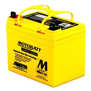 MBU1-35 MOTOBATT Quadflex AGM Bike Battery 12V 35Ah
