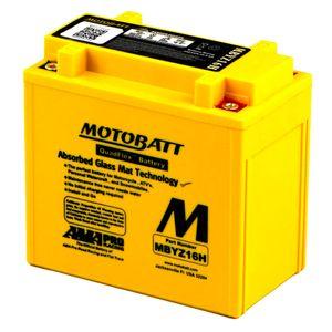 MBYZ16H MOTOBATT Quadflex AGM Bike Battery 12V 16Ah