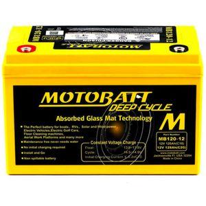 MB120-12 MOTOBATT AGM Deep Cycle Leisure Battery 12V 128Ah