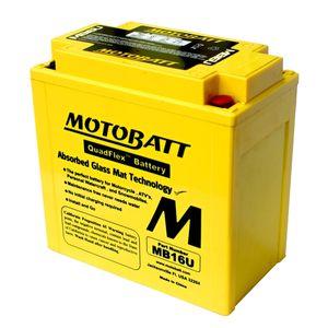 MB16U MOTOBATT Quadflex AGM Bike Battery 12V 20Ah