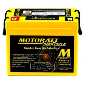 MB85-12 MOTOBATT AGM Deep Cycle Leisure Battery 12V 90Ah