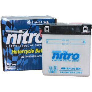 6N11A-3A Nitro Motorcycle Battery 6N11A-3A WA