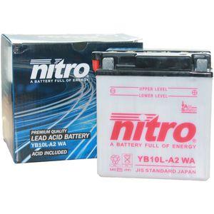 YB10L-A2 Nitro Motorcycle Battery YB10L-A2 WA