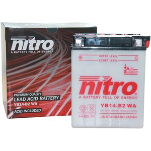 YB14-B2 Nitro Motorcycle Battery YB14-B2 WA