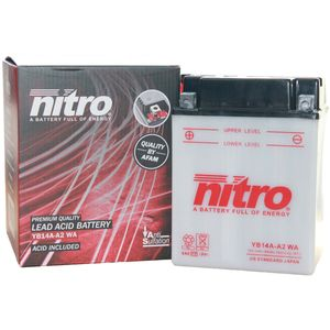 YB14A-A2 Nitro Motorcycle Battery YB14A-A2 WA