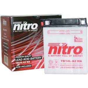 YB14L-A2 Nitro Motorcycle Battery YB14L-A2 WA