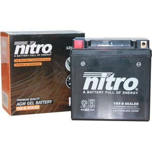 YB9-B SEALED Nitro Motorcycle Battery