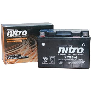 YT9B-4 Nitro Motorcycle Battery