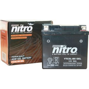 YTC5L-BS Nitro Motorcycle Battery