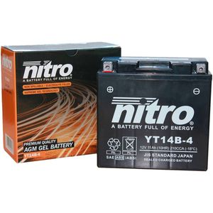 YT14B-4 Nitro Motorcycle Battery