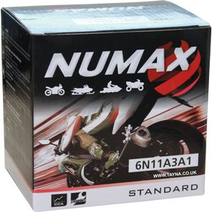 6N11A-3A-1 Numax Motorcycle Battery 6V 11Ah (6N11A3A1)
