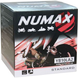 YB10L-A2 Numax Motorcycle Battery 12V 11Ah YB10LA2