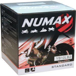 YB10L-B2 Batterie De Moto Numax 12V 11Ah YB10LB2