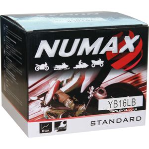 YB16L-B Numax Motorcycle Battery 12V 19Ah YB16LB