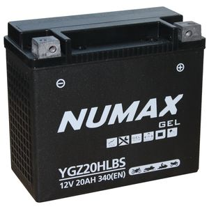 YGZ20HLBS Gel Numax Motorcycle Battery 12V 19Ah YGZ20HL-BS