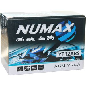 NTS12ABS Numax Motorbike Battery YT12A-BS