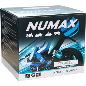 NTS20L-BS Sealed Numax Motorbike Battery YTX20L-BS