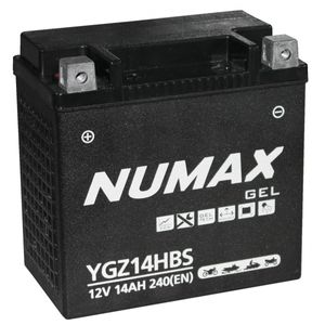 YGZ14HBS Gel Numax Motorcycle Battery 12V 14Ah YGZ14H-BS
