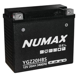 YGZ20HBS Gel Numax Motorcycle Battery 12V 20Ah YGZ20H-BS