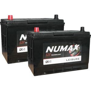 Pair of Numax LV26MF Sealed Leisure Battery 12V 100Ah