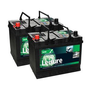 Pair of Lucas LL26MF Leisure Batteries 95Ah
