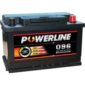 096 Powerline Car Battery 12V