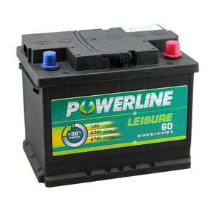 60Ah Leisure Battery - Powerline 60 Leisure Battery