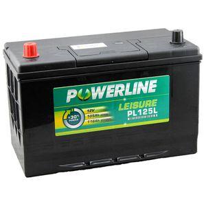 PL125L Powerline Leisure Battery 12V (POS Left)