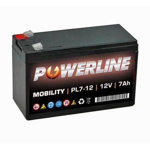 PL7-12 Powerline Mobility Battery 12V 7Ah