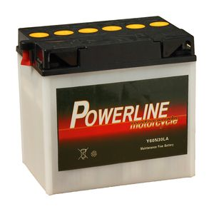 Y60-N30L-A Powerline Motorcycle Battery 12V 26Ah Y60N30LA