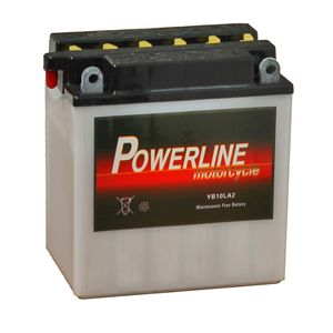 YB10L-A2 Powerline Motorcycle Battery 12V 10Ah YB10LA2