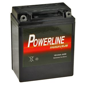 YB12A-A AGM Powerline Motorcycle Battery 12V 10Ah YB12AA-AGM