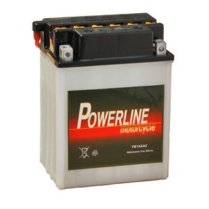 YB14A-A2 Powerline Motorcycle Battery 12V 13Ah YB14AA2