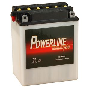 YB14L-A2 Powerline Motorcycle Battery 12V 13Ah YB14LA2