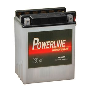 YB14L-B2 Powerline Motorcycle Battery 12V 13Ah YB14LB2