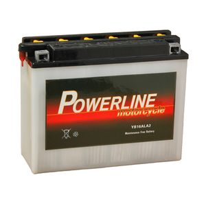 YB16AL-A2 Powerline Motorcycle Battery 12V 15Ah YB16AL-A2