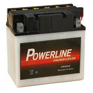 YB16CL-B Powerline Motorcycle Battery 12V 19Ah YB16CLB