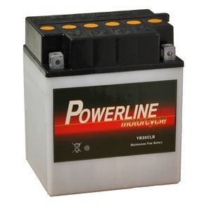 YB30CL-B Powerline Motorcycle Battery 12V 29Ah YB30CLB