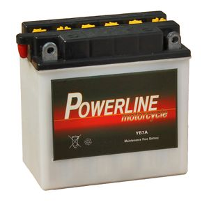 YB7-A Powerline Motorcycle Battery 12V 7Ah YB7A