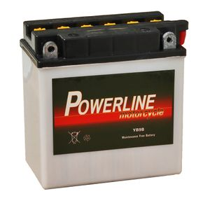 YB9-B Powerline Motorcycle Battery 12V 8Ah YB9B