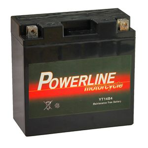 YT14B-4 Powerline Motorcycle Battery 12V 12Ah YT14B4