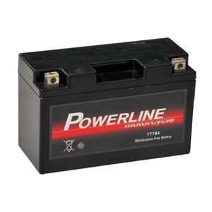 YT7B-4 Powerline Motorcycle Battery 12V 6Ah YT7B4
