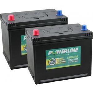Pair of LVC22MF Powerline Leisure Battery 12V