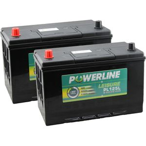 Pair of PL125L Powerline Leisure Battery 12V (POS Left)