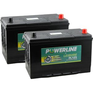 Pair of PL125 Powerline Leisure Battery 12V