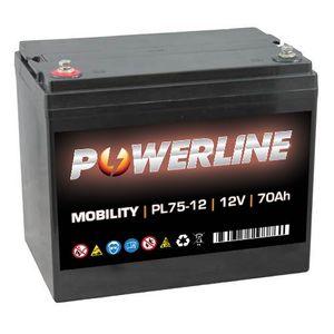 PL75-12 Powerline Mobility Battery 12V 70Ah