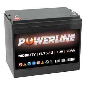 PL75-12 Powerline Mobility Battery 12V 70Ah